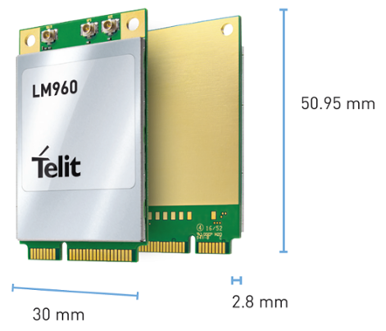 Telit LTE Mini PCIe card