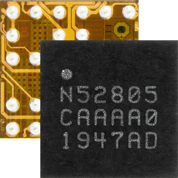 Bluetooth 5.2 SoC in a WLCSP optimized for small two-layer PCB designs